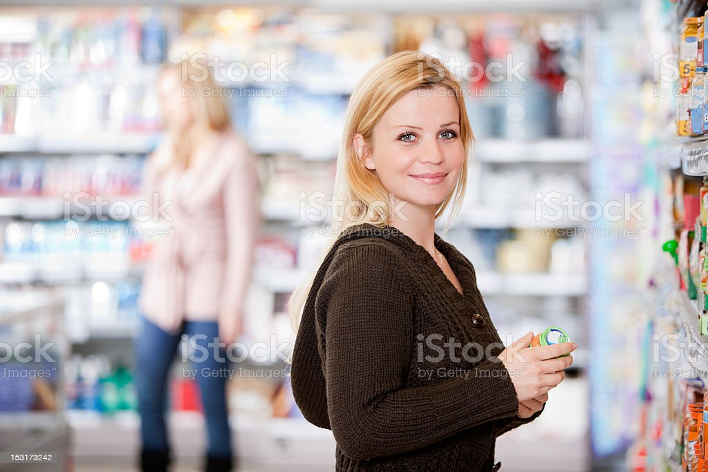 Woman in Grocery Store royalty-free stock photo