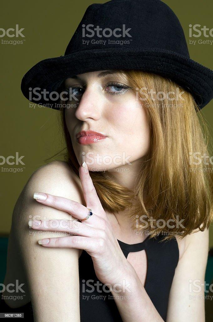 여자 모자 royalty-free 스톡 사진