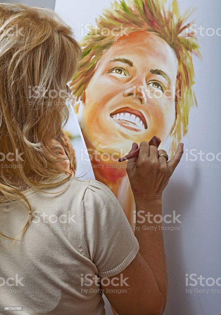 여자 자신의 50 그림 a 세로는 royalty-free 스톡 사진