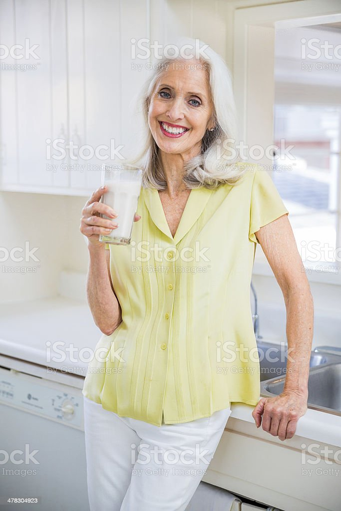 Woman in her golden age royalty-free stock photo
