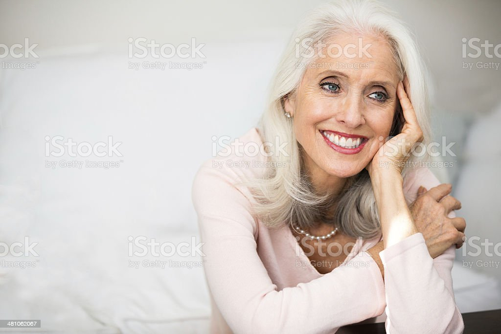 Woman in her golden age stock photo