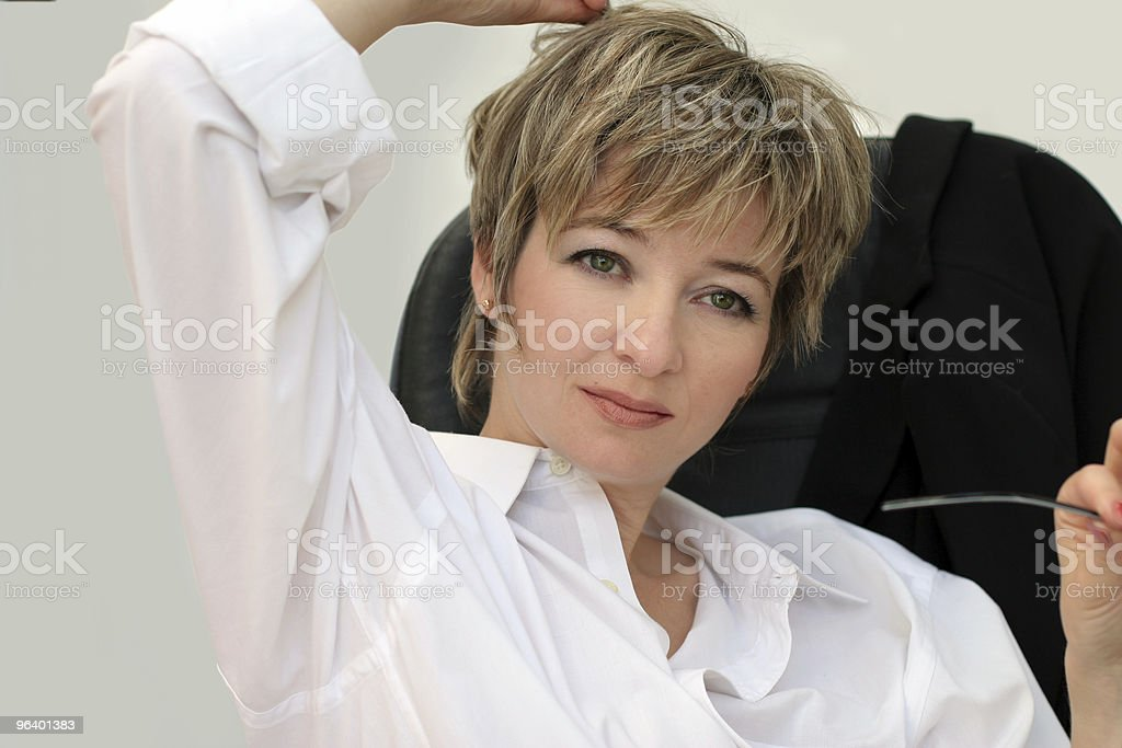 Woman in her office royalty-free stock photo