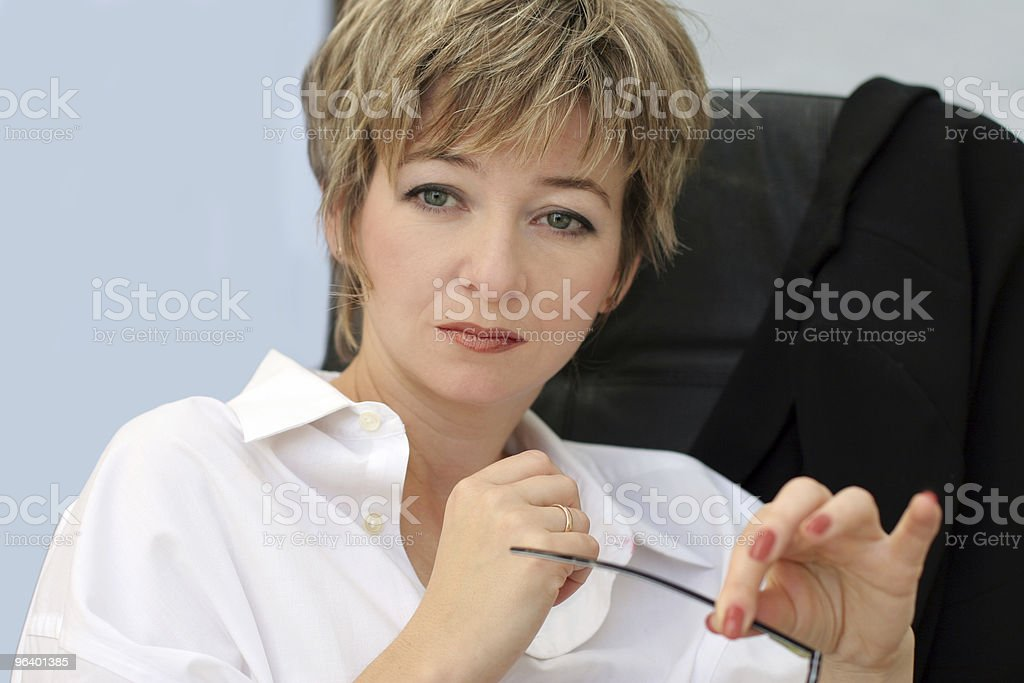 Woman in her office - Royalty-free Adult Stock Photo