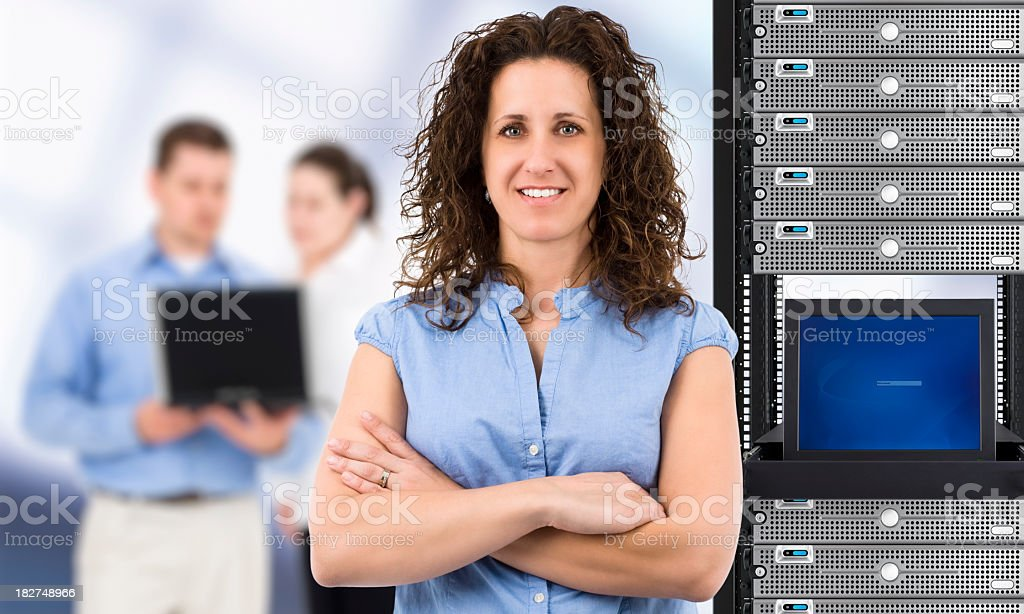 Frau im Bereich Informationstechnologie (IT – Foto