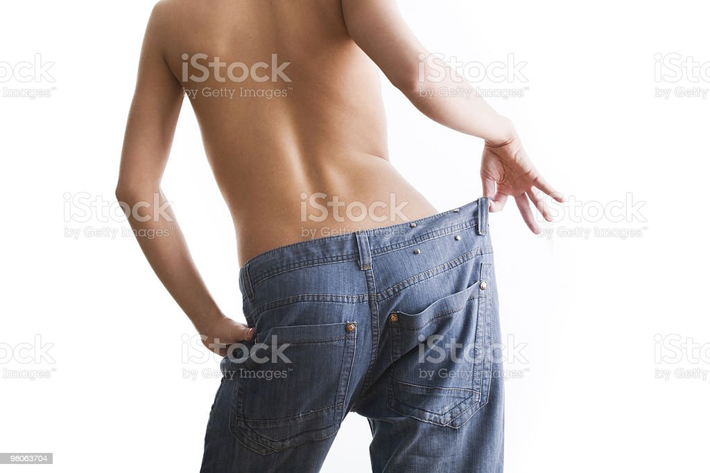 Woman in jeans royalty-free stock photo