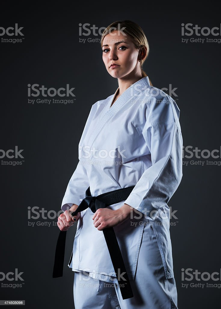 Woman in kimono stock photo