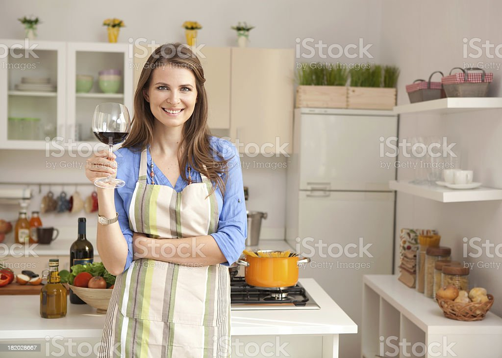 Woman in kitchen. royalty-free stock photo