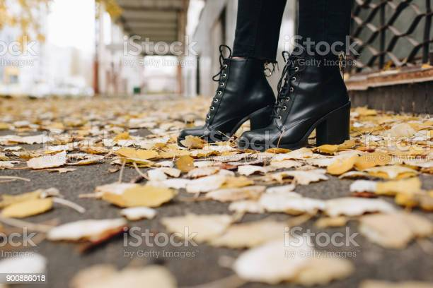 Photo of woman in leather boots