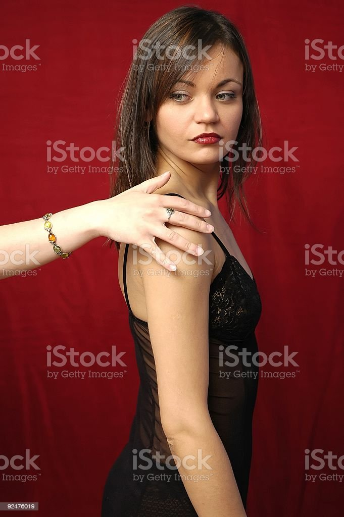 Woman in lingerie serie royalty-free stock photo