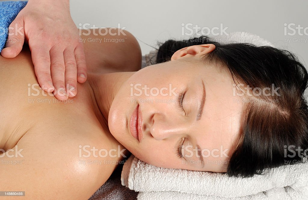 Woman in massage royalty-free stock photo