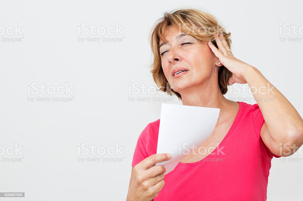 Woman in Menopause stock photo
