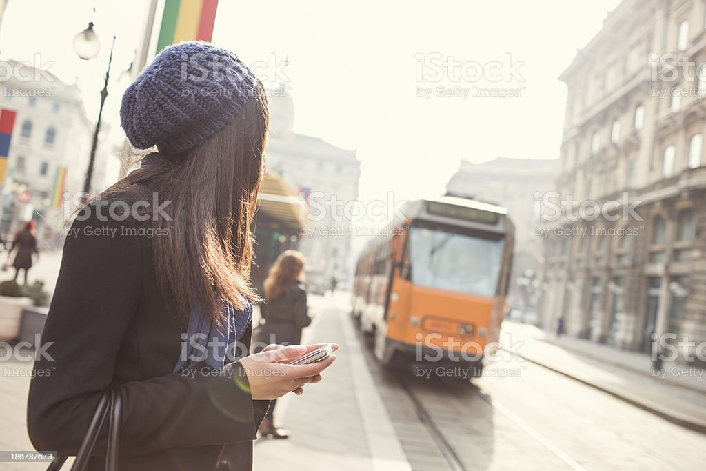 Donna a Milano - foto stock