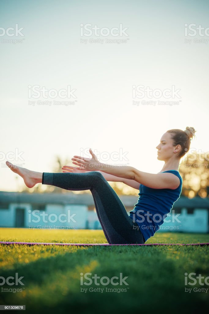April 12, 2020,Indian girl yoga workout in home 2020