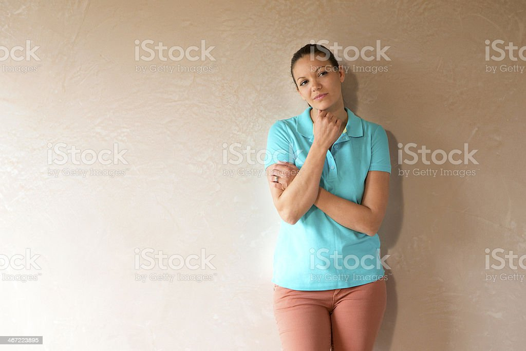 Woman in New Home royalty-free stock photo