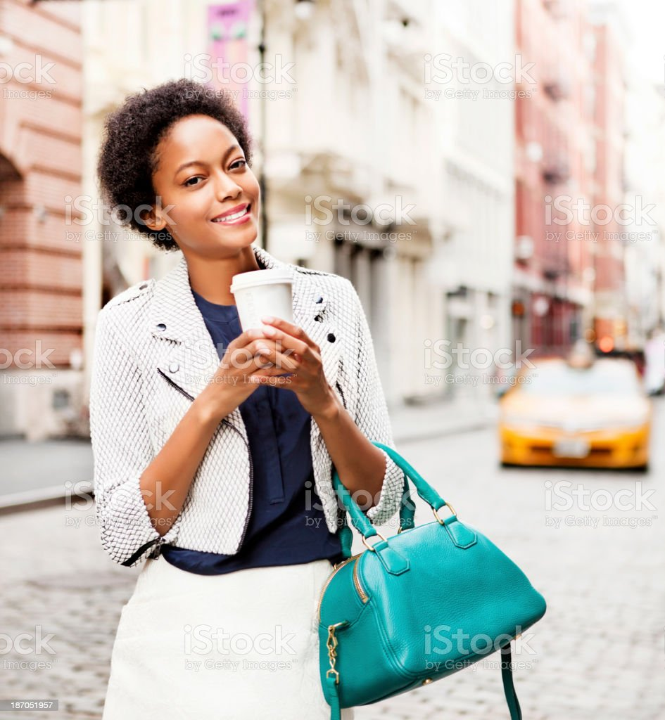 Woman in New York royalty-free stock photo