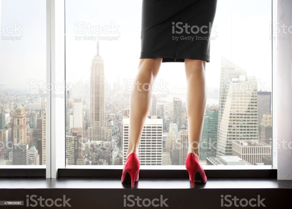 Woman in New york stock photo