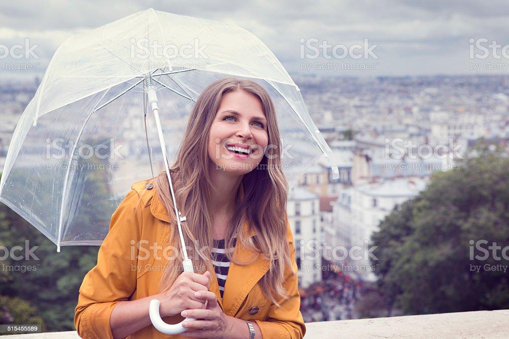 Woman in Paris. stock photo