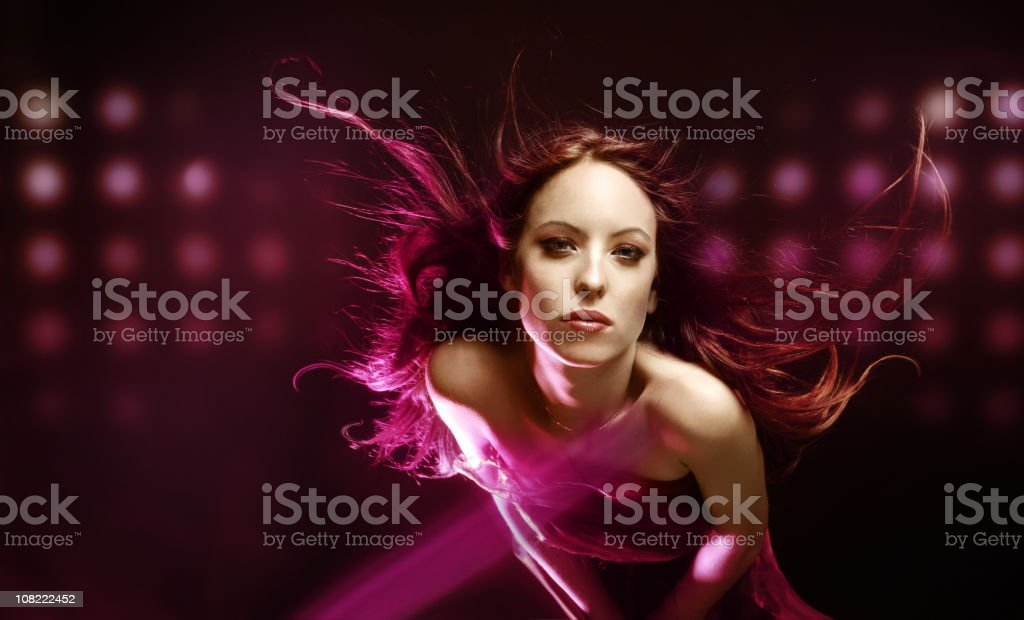 Woman in pink royalty-free stock photo