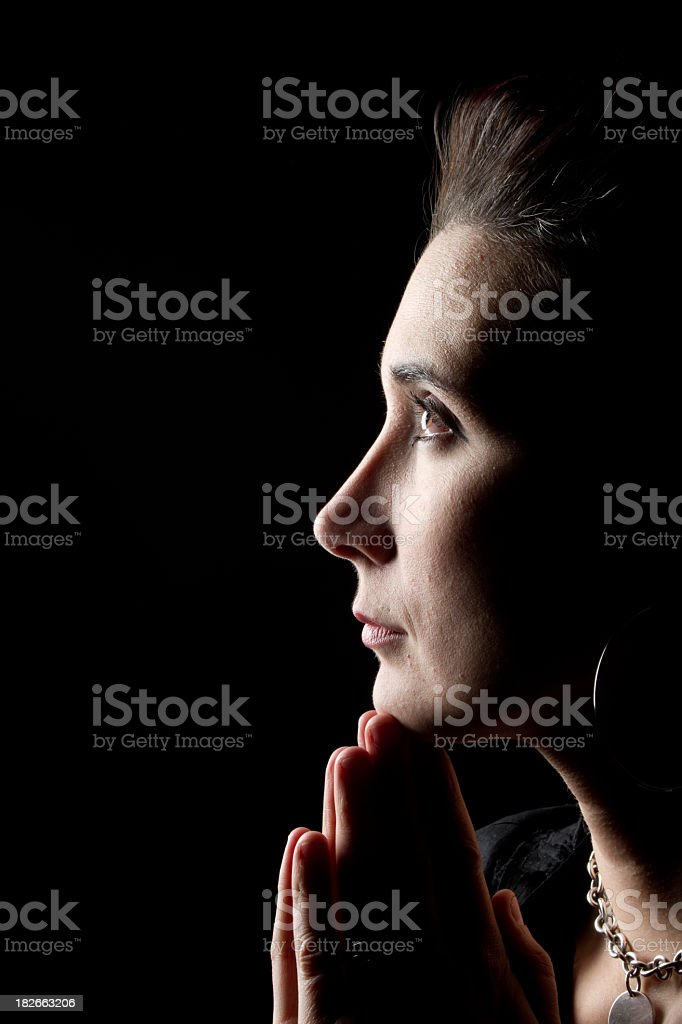 Woman in Prayer royalty-free stock photo