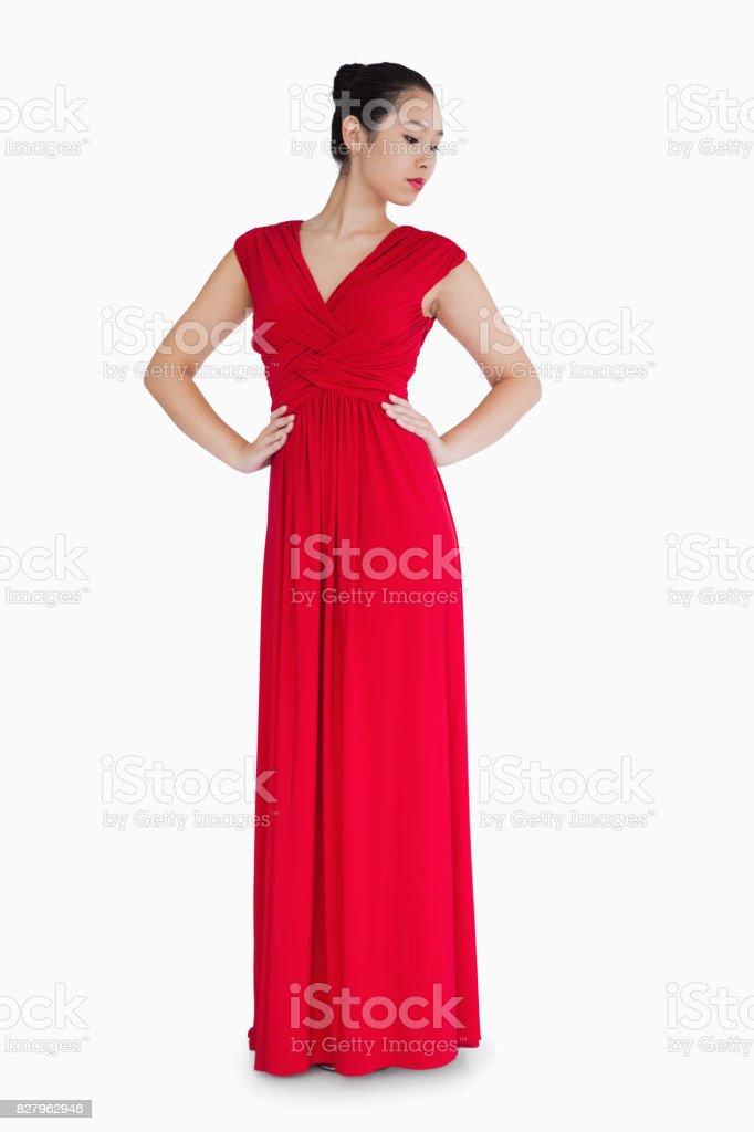 Vestidos de noche rojo con blanco