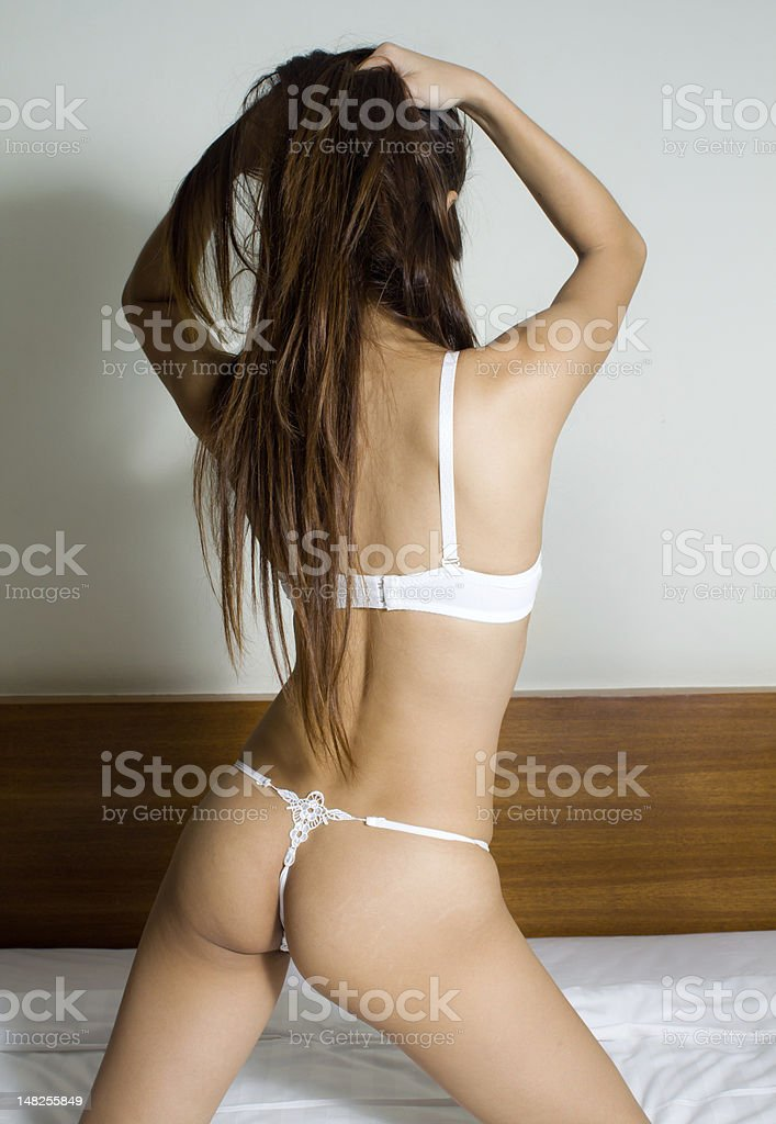 Woman in sexy lingerie royalty-free stock photo