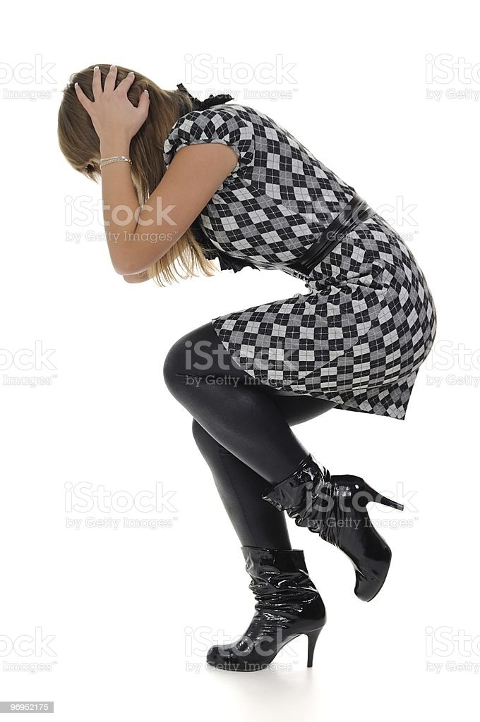 Woman in shock royalty-free stock photo