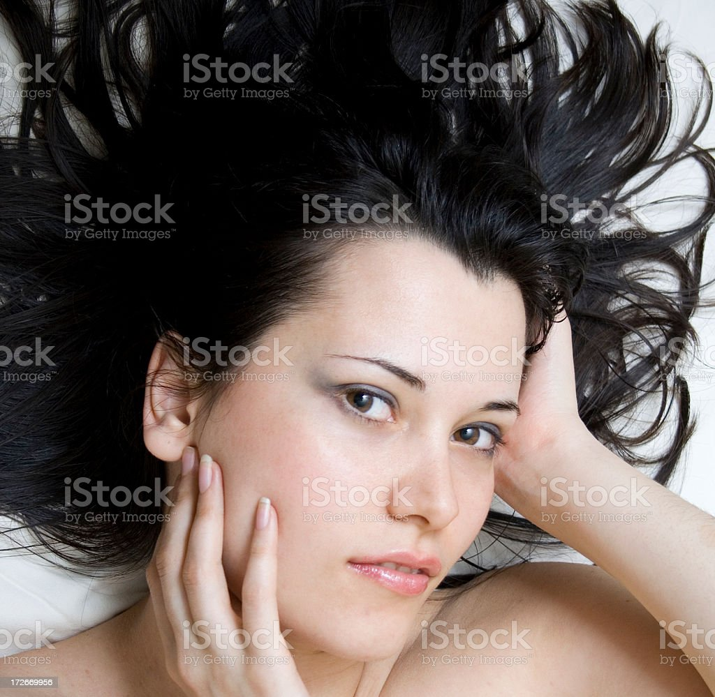 Woman in spa center royalty-free stock photo