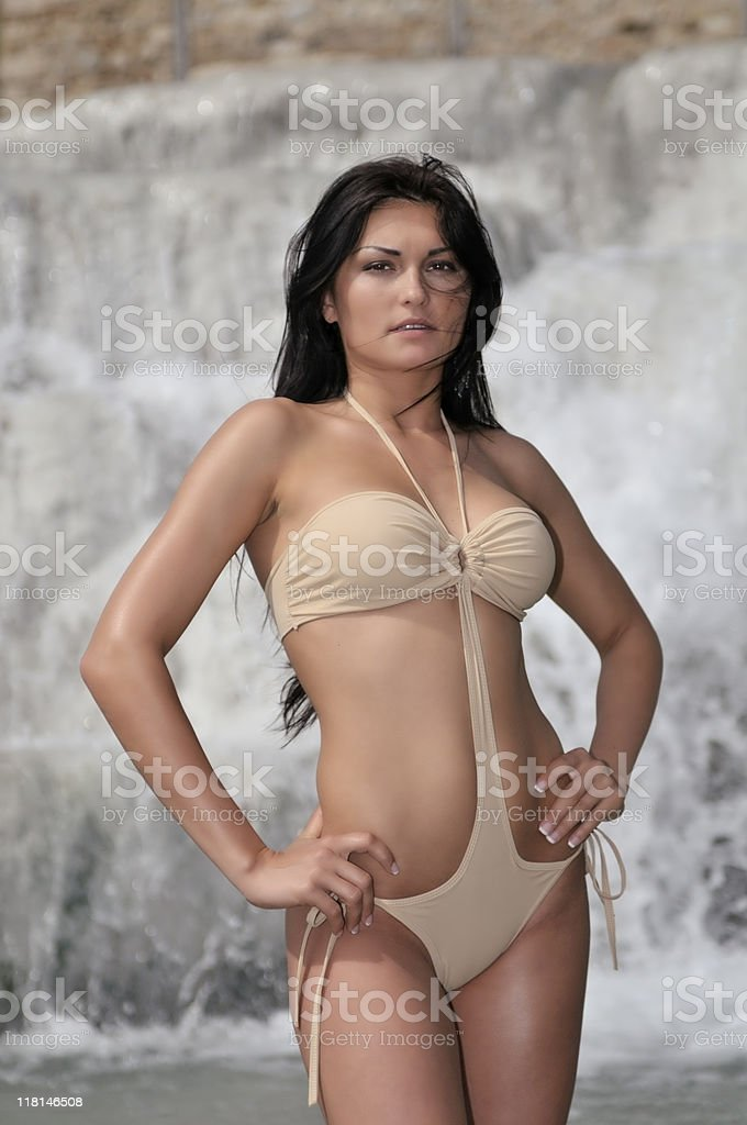 Woman in spa royalty-free stock photo