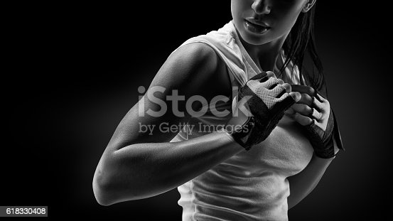 istock Woman in sports clothing 618330408