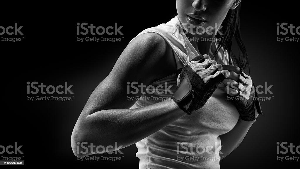 Femme en vêtements de sport - Photo