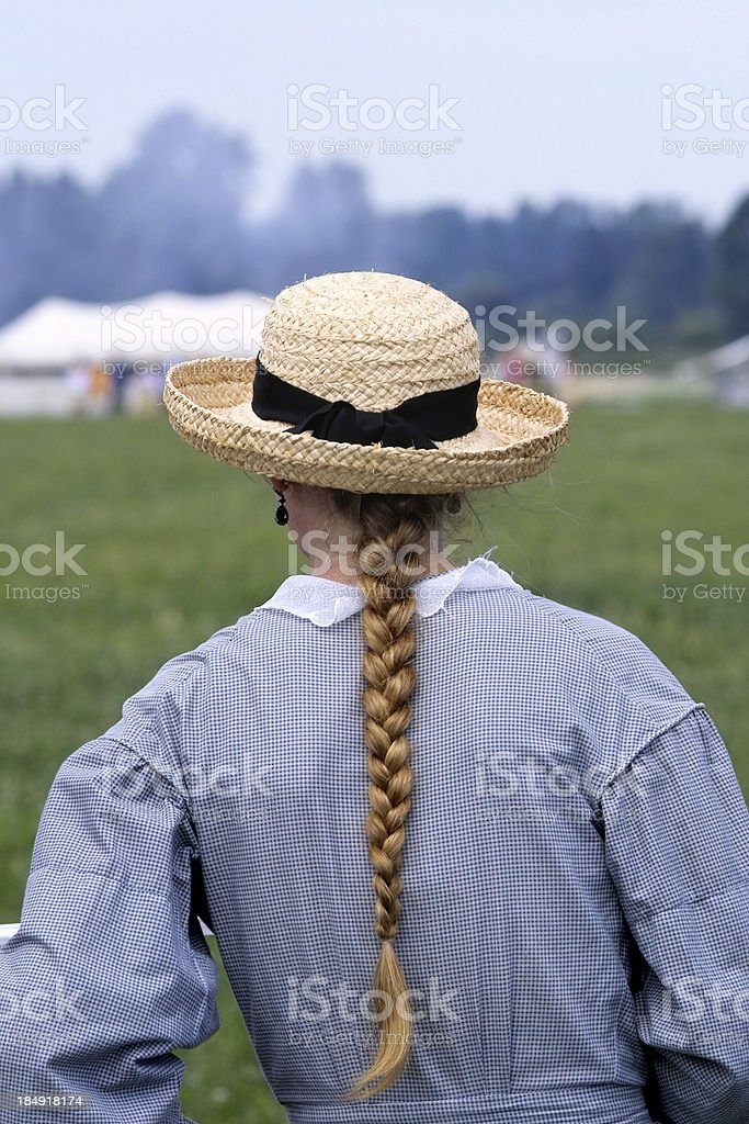 Woman in Straw Hat II royalty-free stock photo