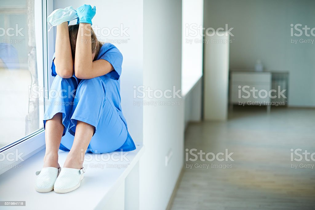Woman in stress stock photo