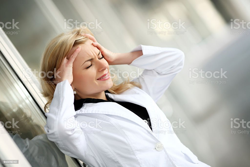 Woman in stress. royalty-free stock photo