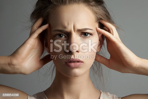 istock woman in stress watching at camera 539954036