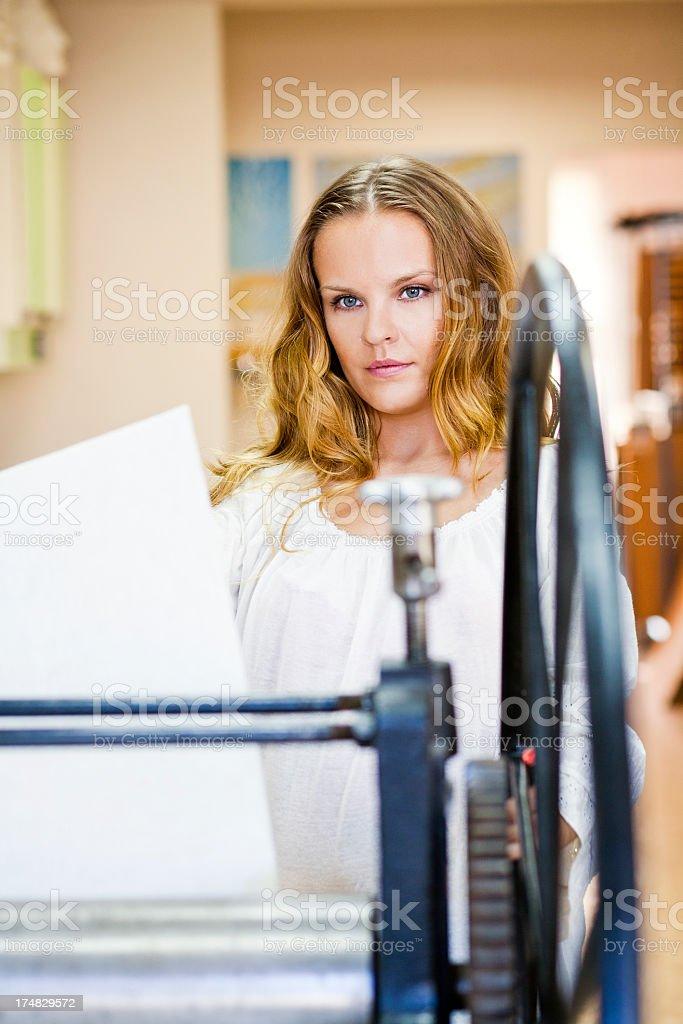 woman in studio royalty-free stock photo