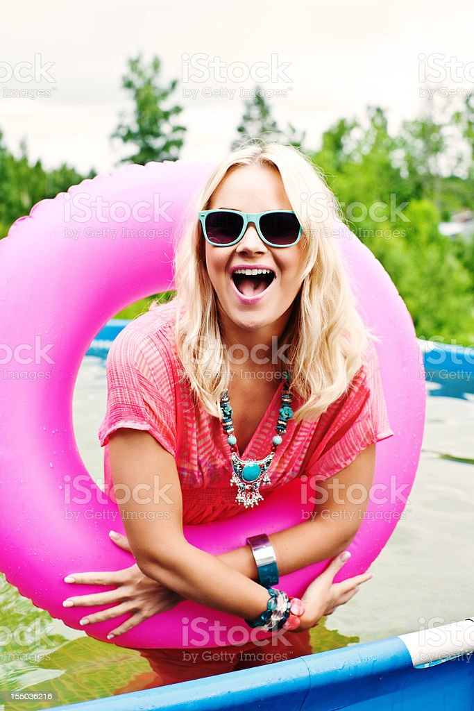 Woman in summer clothing royalty-free stock photo