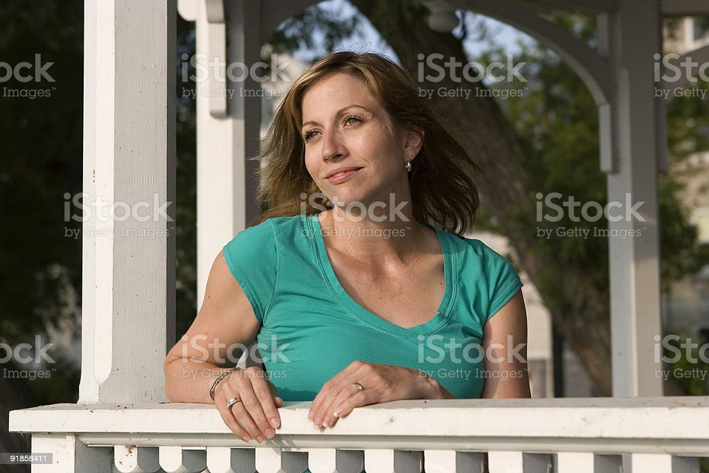 Woman in summer stock photo
