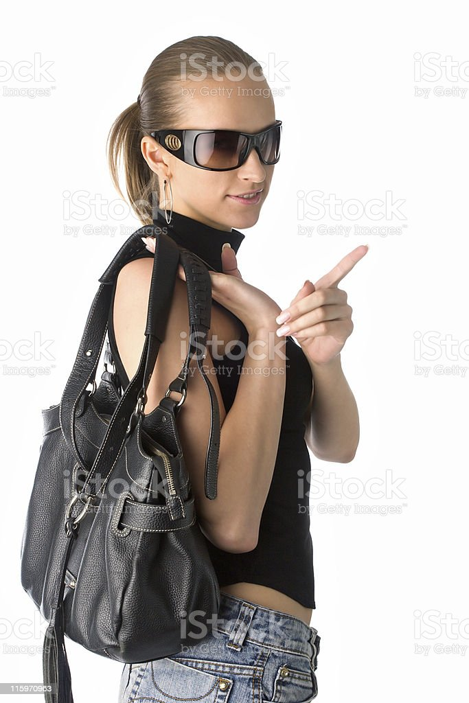 woman in sunglasses royalty-free stock photo