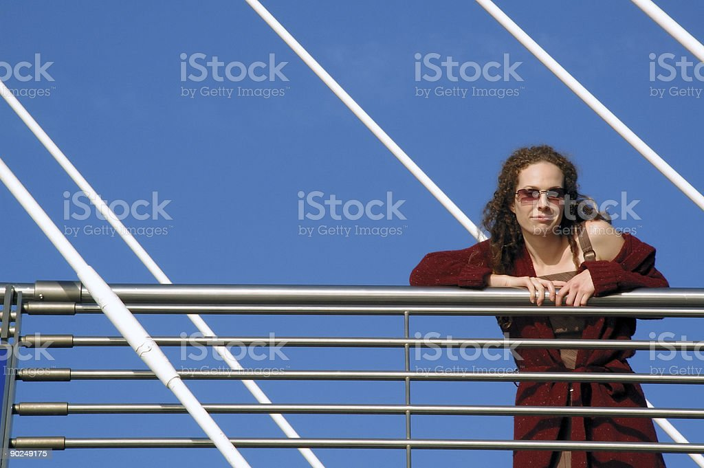 Woman in sunny outdoors royalty-free stock photo