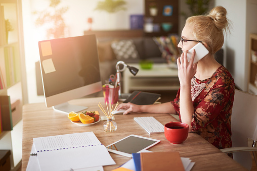 Woman In Surroundings Of Digital Technology Stock Photo - Download Image Now