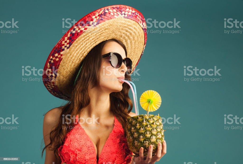 woman in swimsuit enjoy beach season, vacation royalty-free stock photo