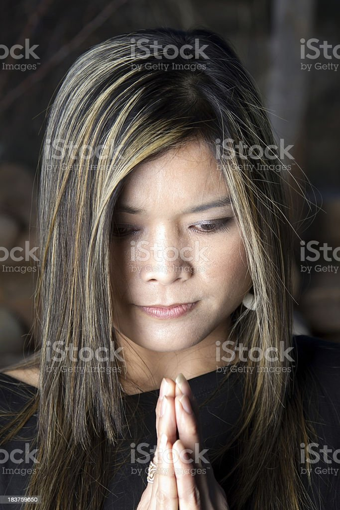 Woman in Thailand royalty-free stock photo