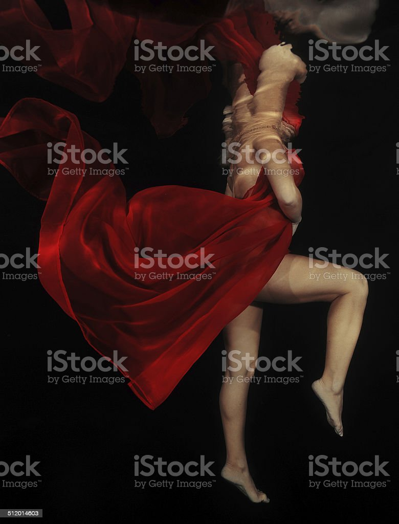 Woman in the Black stock photo