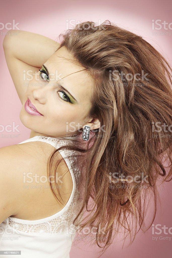 Donna nel Orecchini - Foto stock royalty-free di Accessorio personale