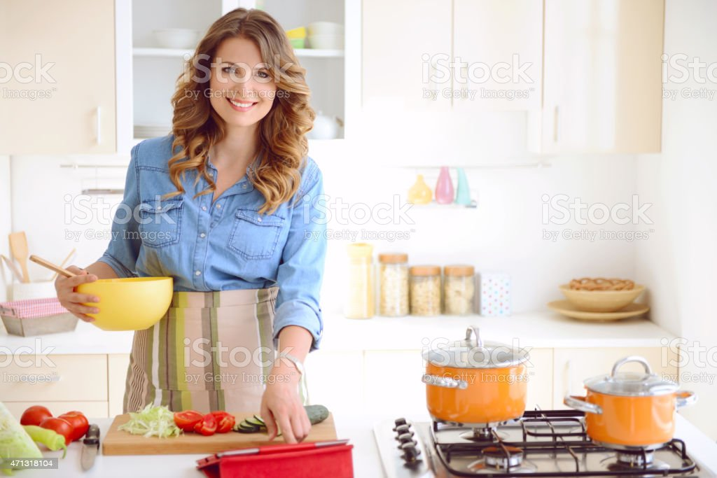 woman in the kitchen - Royalty-free 2015 Stock Photo