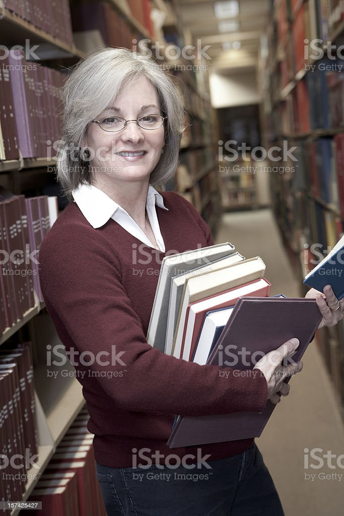 Woman in the Library Series (XXL) royalty-free stock photo