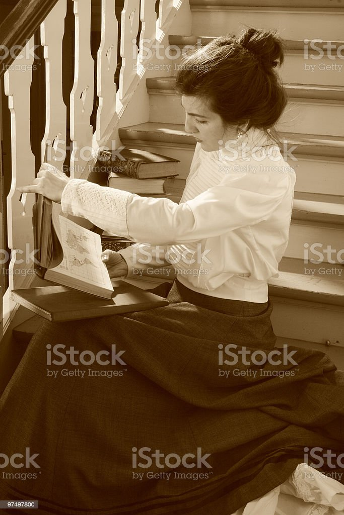 woman in the lounge royalty-free stock photo