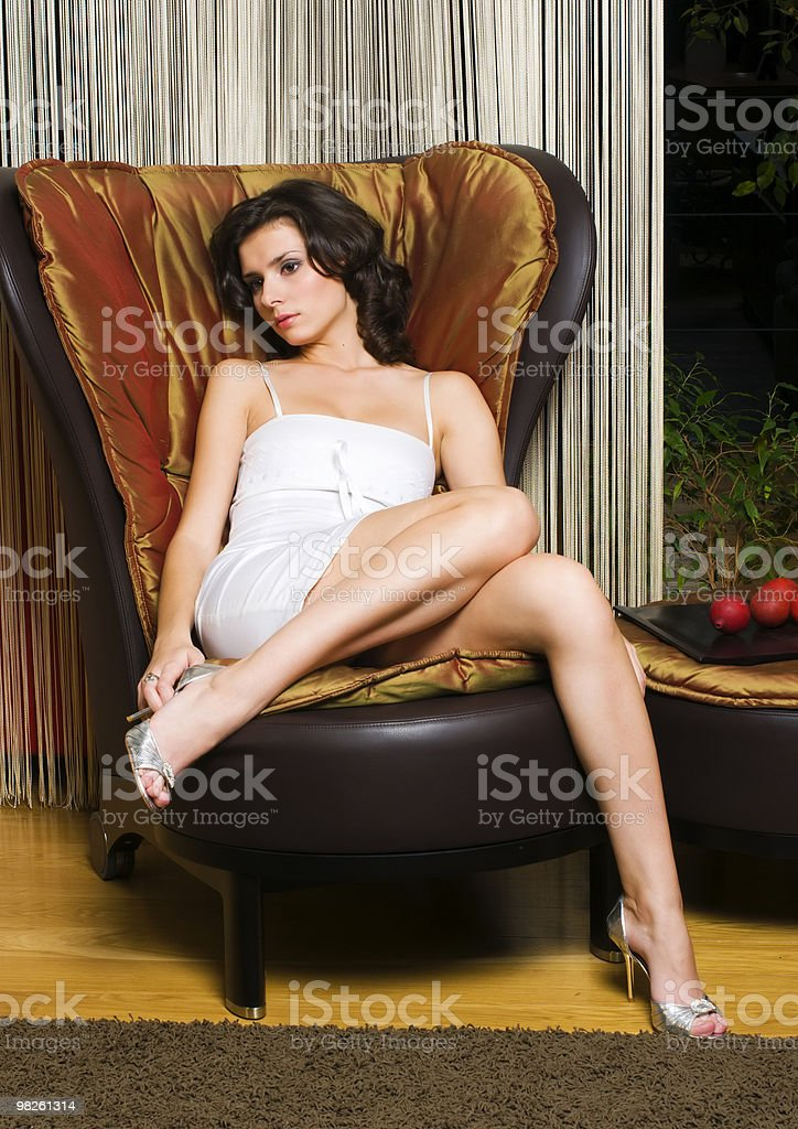 woman in the luxurios interior royalty-free stock photo