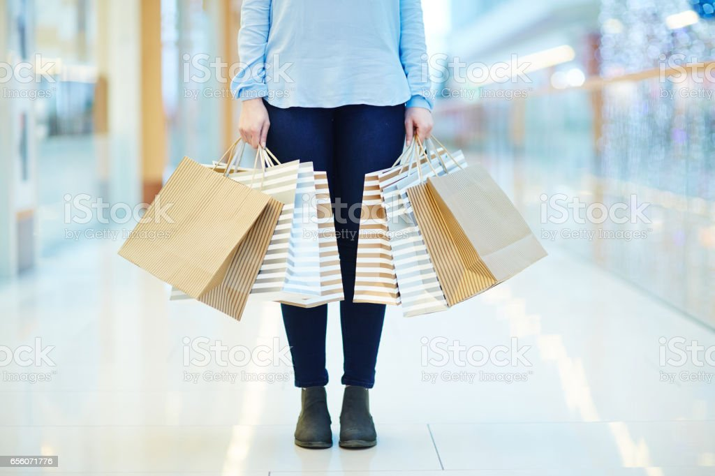 Woman in the mall stock photo