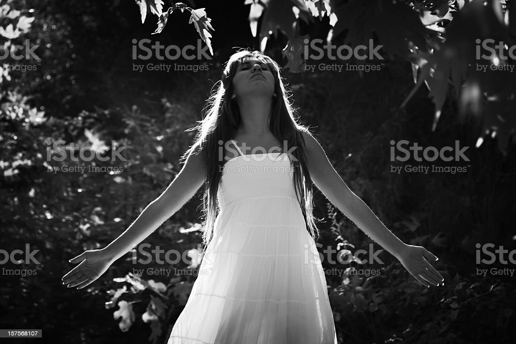 woman in the nature royalty-free stock photo